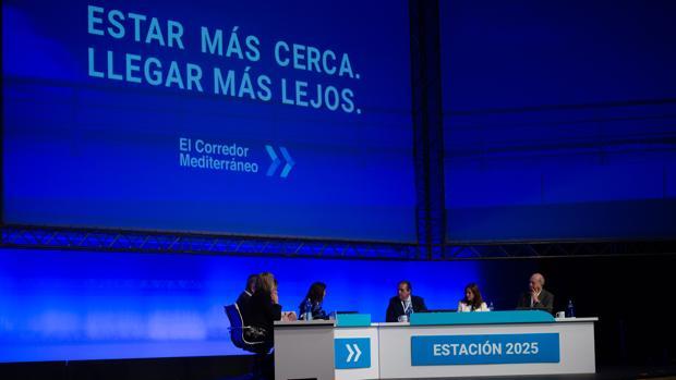 Imagen del acto a favor del Corredor Mediterráneo celebrado el año pasado en Barcelona