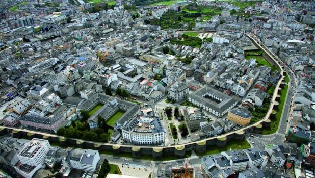 La ciudad de Lugo, recogida en la guía de paisaje que impulsa el Instituto de Estudos do Territorio