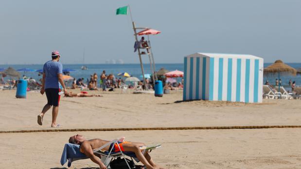 Imagen de la playa de Las Arenas de Valencia