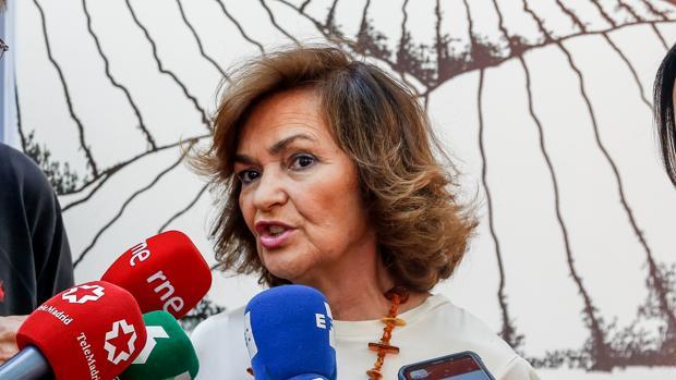 La vicepresidenta del Gobierno en funciones, Carmen Calvo, interviene en la conferencia de las jornadas 'Diálogos 140 aniversario' por el aniversario del PSOE