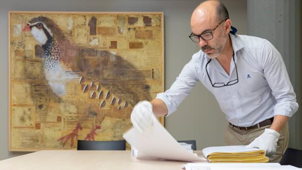 Javier Ortega, en la Fundación Miguel Delibes de Valladolid, en una imagen de archivo