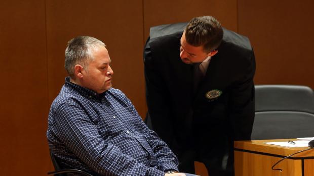 Marcos Mirás durante el juicio por el asesinato de su hijo
