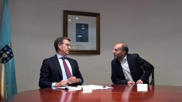 Feijóo y Jácome, en su reunión este lunes