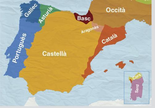 Imagen del mapal sobre el uso del catalán difundido por la Generalitat de Cataluña