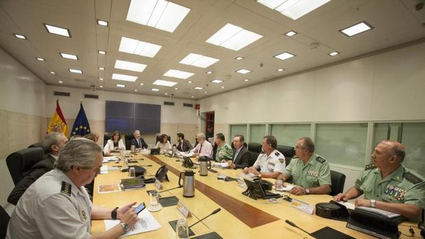 Reunión de Mrlaska con la cúpula de su ministerio y mandos policiales