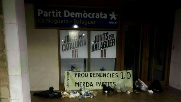 Una de las acciones, en Balaguer (Lleida)