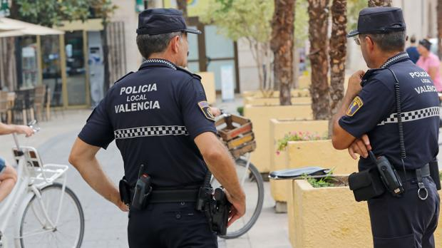 Imagen de archivo de la Policía Local de Valencia