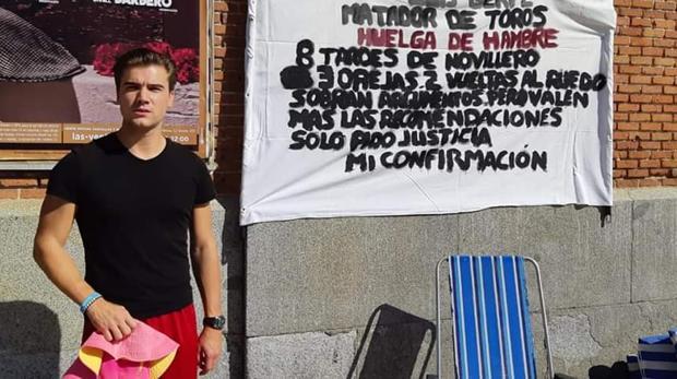 Luis Gerpe en huelga