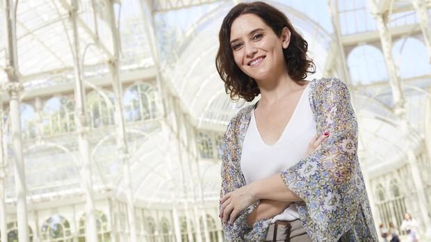 Isabel Díaz Ayuso, en el Palacio de Cristal del Retiro, durante la entrevista para ABC