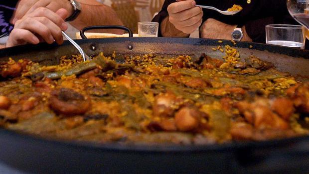 Imagen de archivo de una paella valenciana