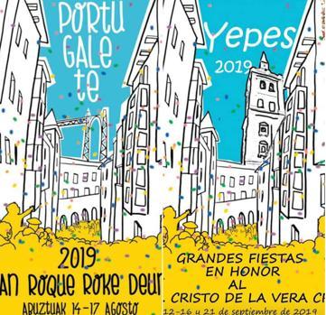 Los carteles Portugalete y de Yepes