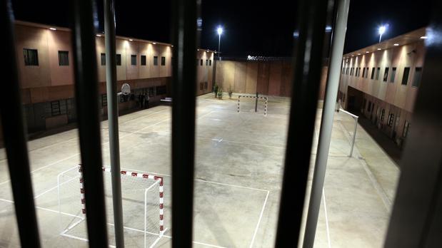 Interior del patio de una cárcel