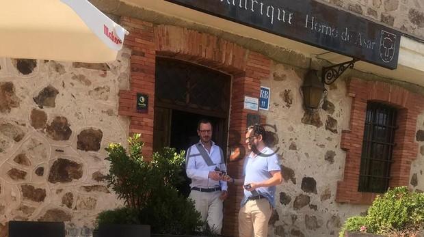 Javier Maroto, tras una comida este jueves en un restaurante de Sotosalbos (Segovia)
