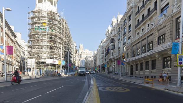 Calle de la Gran Vía en Madrid