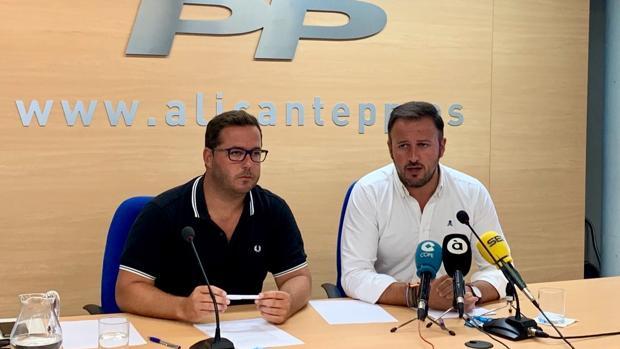 Rueda de prensa ofrecida por el PP este martes