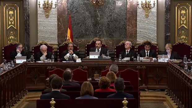 El tribunal del «procés», durante el juicio que quedó visto para sentencia el pasado junio