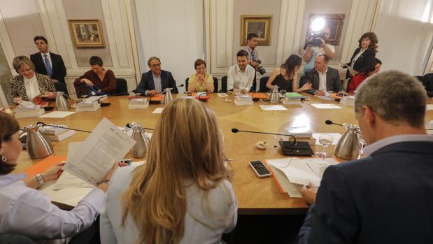 Imagen de archivo de una reunión de los portavoces parlamentarios en las Cortes