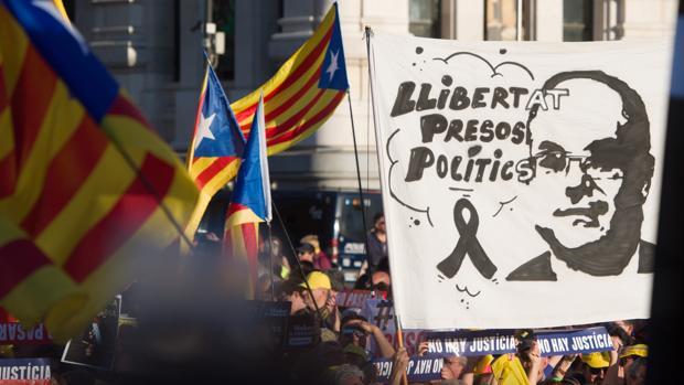 Manifestación independentista catalana en Cibeles