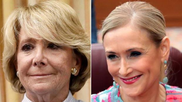 Las expresidentas de la Comunidad de Madrid Esperanza Aguirre y Cristina Cifuentes