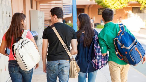 Alumnos de secundaria en una imagen de archivo