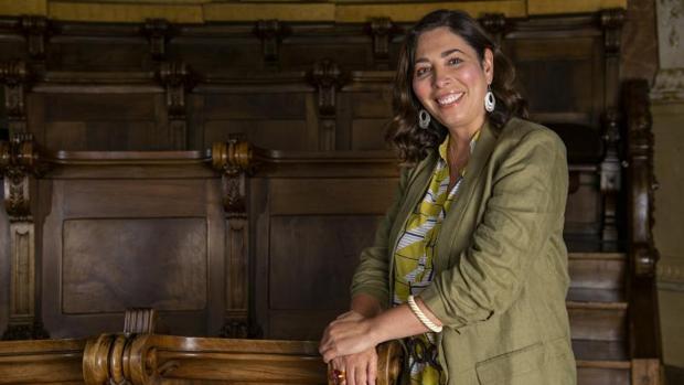 Luz Guilarte, en el salón de plenos municipal