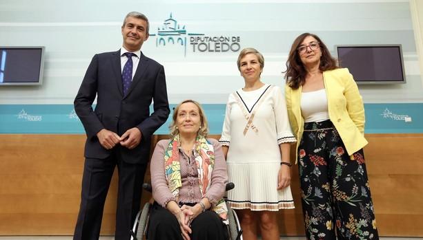 Álvaro Gutiérrez, Begoña Aguilar, María Auxuliadora Suárez y Ana Gómez