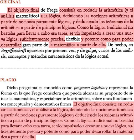 Plagio de Manuel Cruz (pág. 38) a «Los lógicos», de Jesús Mosterín (pág. 22)