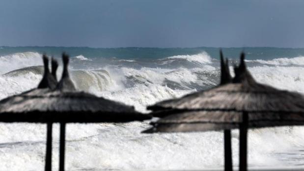 Efectos del temporal marítimo este miércoles en Dénia (Alicante)