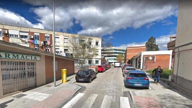 Calle de Fuentenebro, una de las que se reformarán tras las obras del bario del Aeropuerto