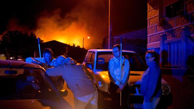 Incendio de A Gudiña, el principal a estas horas en Galicia