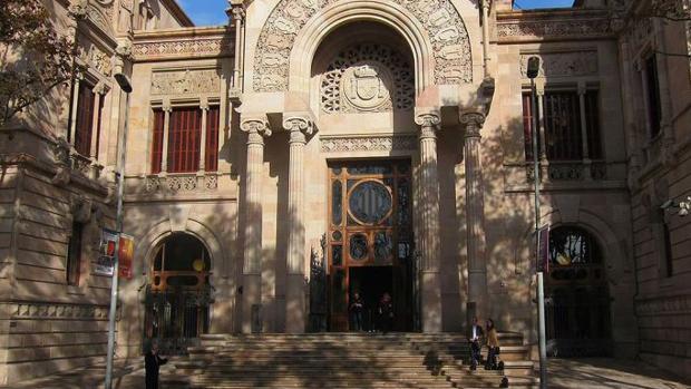 La fachada de la Audiencia de Barcelona, donde está previsto que mañana martes se celebre el juicio