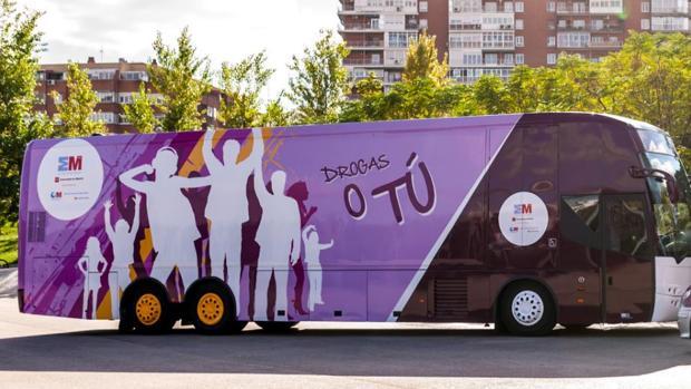 Autobús «Drogas o tú» de la Comunidad de Madrid