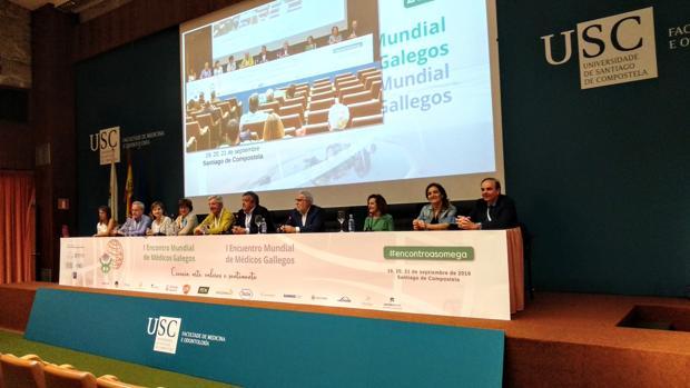 Clausura del encuentro médico, ayer en la Facultad de Medicina de Santiago