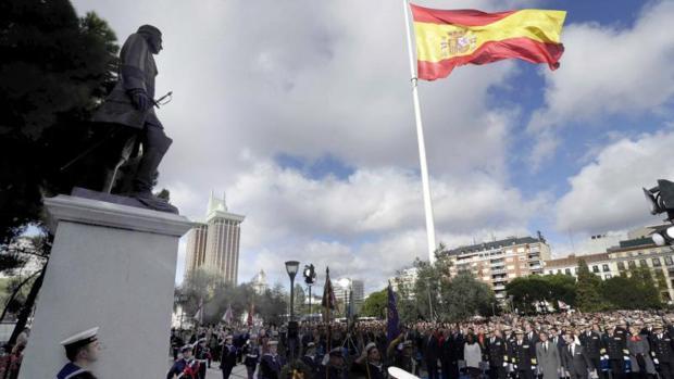 Inauguración del monumento a Blas de Lezo en Colón en 2014