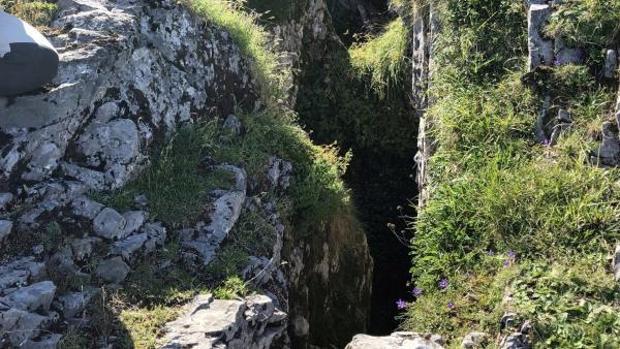 La sima donde se encontraron los restos de Eloy Campillo