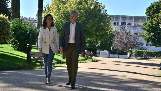 María Ramallo con Alfonso Rueda, este lunes en Pontevedra