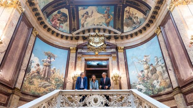 Andrea Levy, delegada del Área de Cultura del Ayuntamiento de Madrid, en el Palacio de Linares
