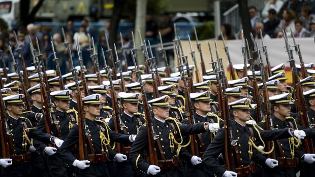 El desfile de las Fuerzas Armadas en Madrid, el 12 de octubre de 2018