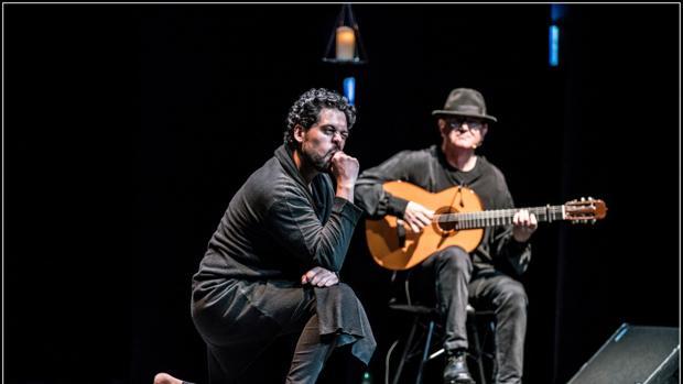 Antonio Campos y José Luis Montón durante una de las funciones de «Lazarillo de Tormes»