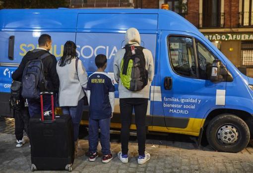 La familia venezolana que, recién llegada, solicitó asilo, sin éxito