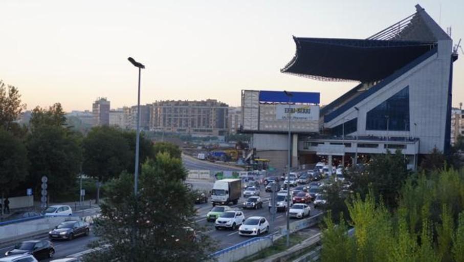 El desvío de la M-30 por el derribo de la tribuna del Vicente Calderón se activará en diez días