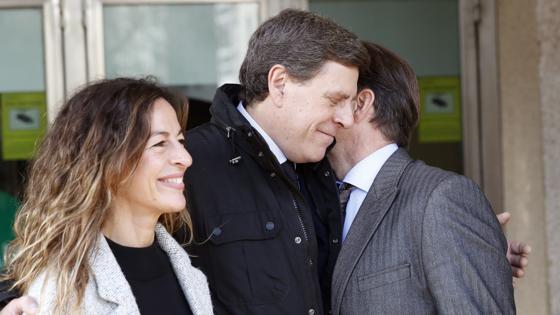 Juan Carlos Quer, padre de Diana, a la salida del juzgado