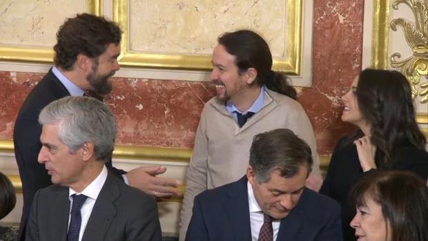 Rufián llama «cobarde» a Iglesias por su «compadreo» con VOX en el Congreso