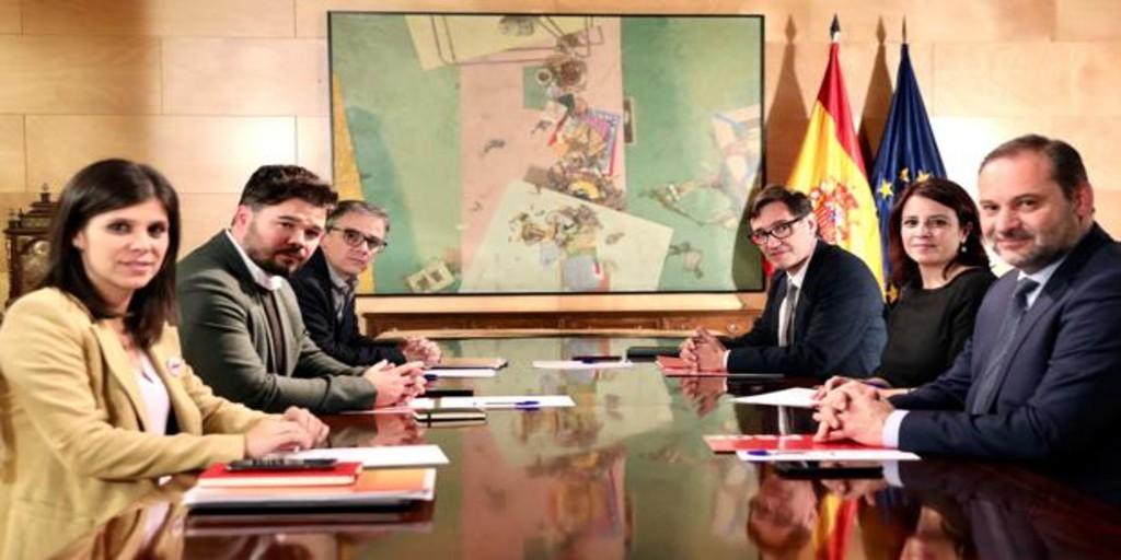 Así será la tercera reunión ERC-PSOE para negociar la investidura de Pedro Sánchez
