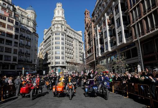 Las Magas, a su llegada a la Plaza del Ayuntamiento