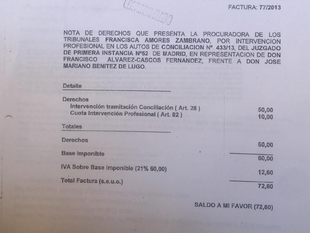 Foro pagó el procurador de Cascos en una causa vinculada al caso Gürtel