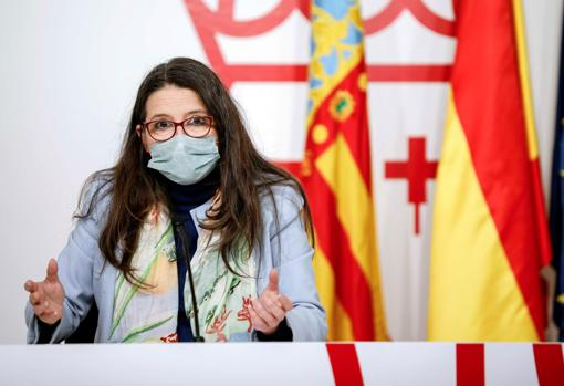 Image of the vice president of the Generalitat, Mónica Oltra, taken this Friday