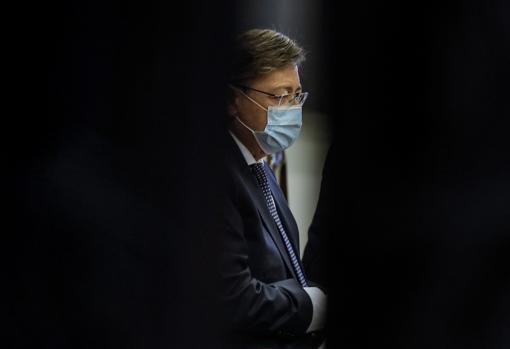 Imagen del presidente de la Generalitat, Ximo Puig, tomada este jueves