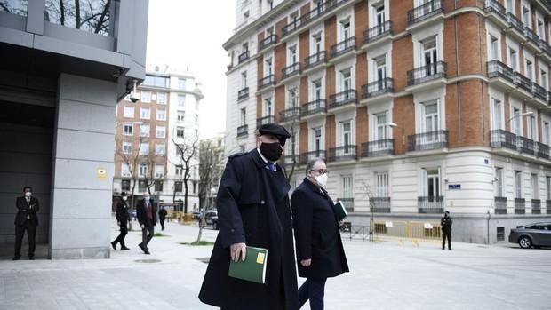 El excomisario José Manuel Villarejo, a su salida de la Audiencia Nacional
