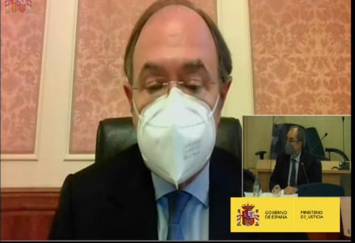 Pío García Escudero testifies by videoconference